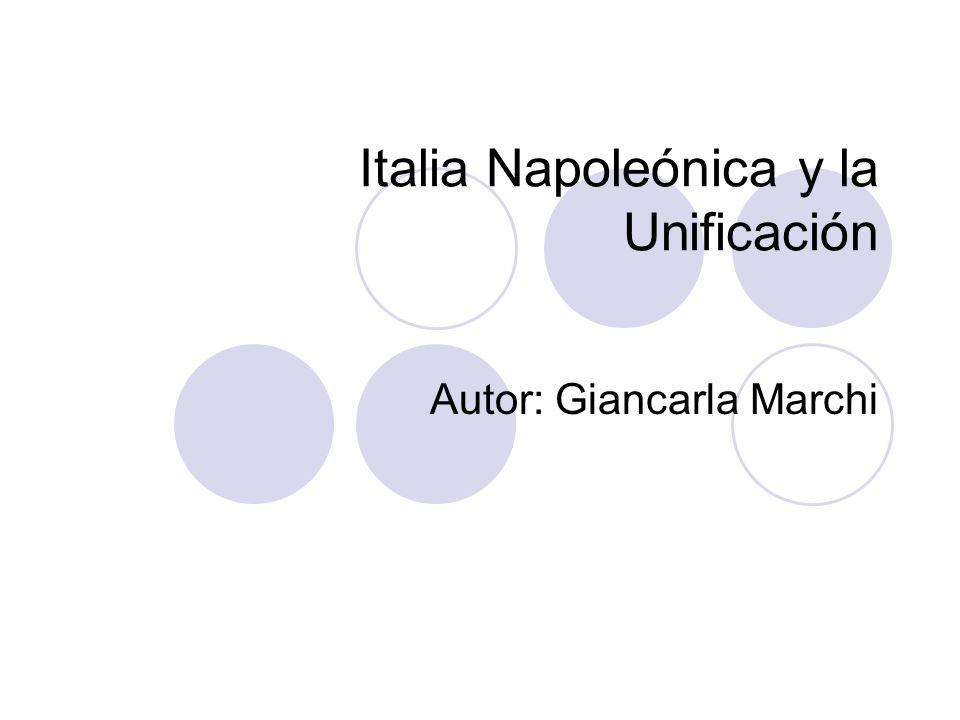 Los protagonistas italianos de la Unificación