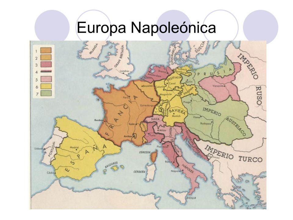 Después de Napoleón… Napoleón abdica en 1814.