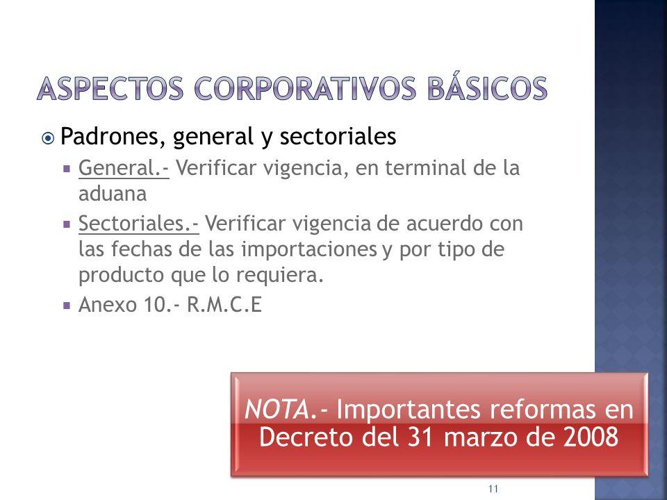 Cédula RFC (de la empresa) Aviso de alta No. Correcto Cambios, avisos DOMICILIO CORRECTO ACTUAL Ley Ad. Art. 89 Regla 2.13.5 RECTIFICACIÓN UNA SOLA VE