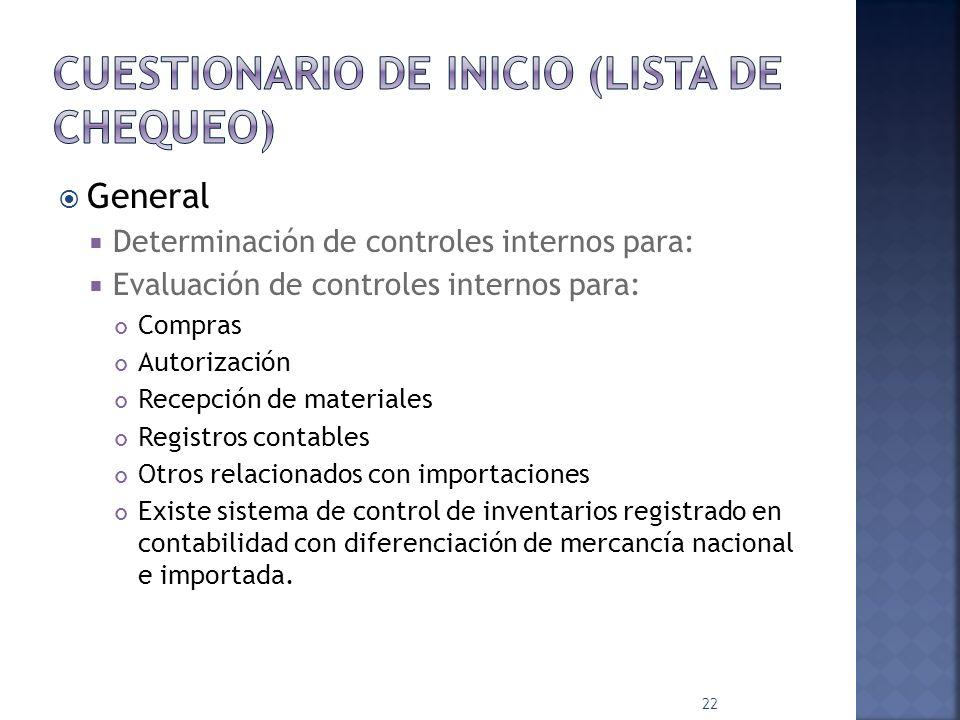 OBJETIVO: Determinar todo tipo de operaciones que realiza la empresa y el control documental, correspondiente 21