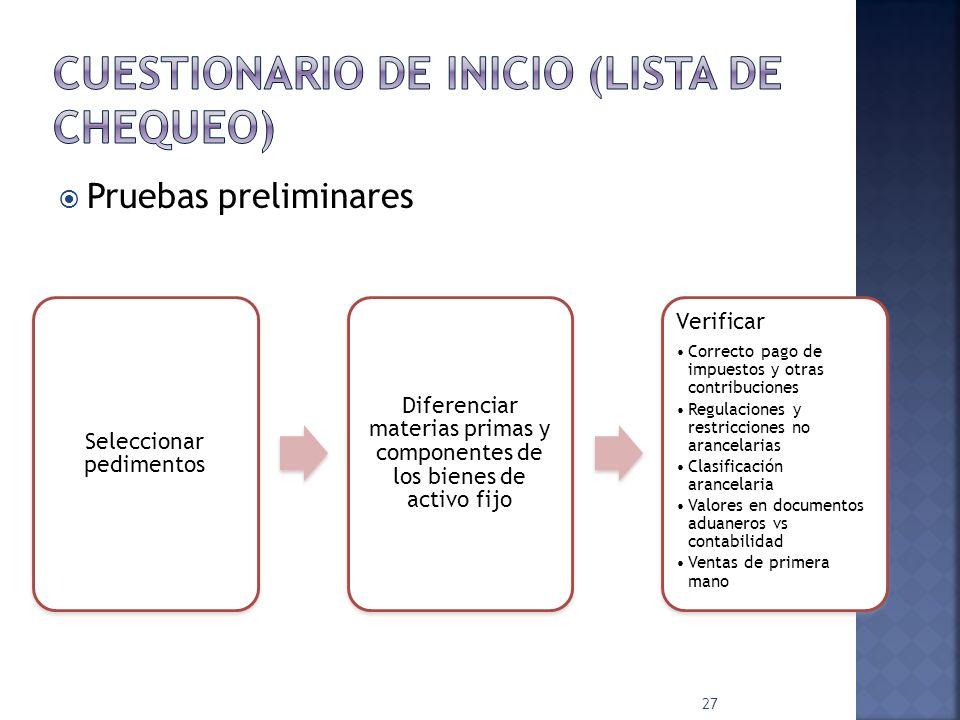 Manifestación de valor/Hoja de cálculo Existen todas Se DECLARAN correctamente Método de valoración aduanera declarado ¿Quién las elabora.
