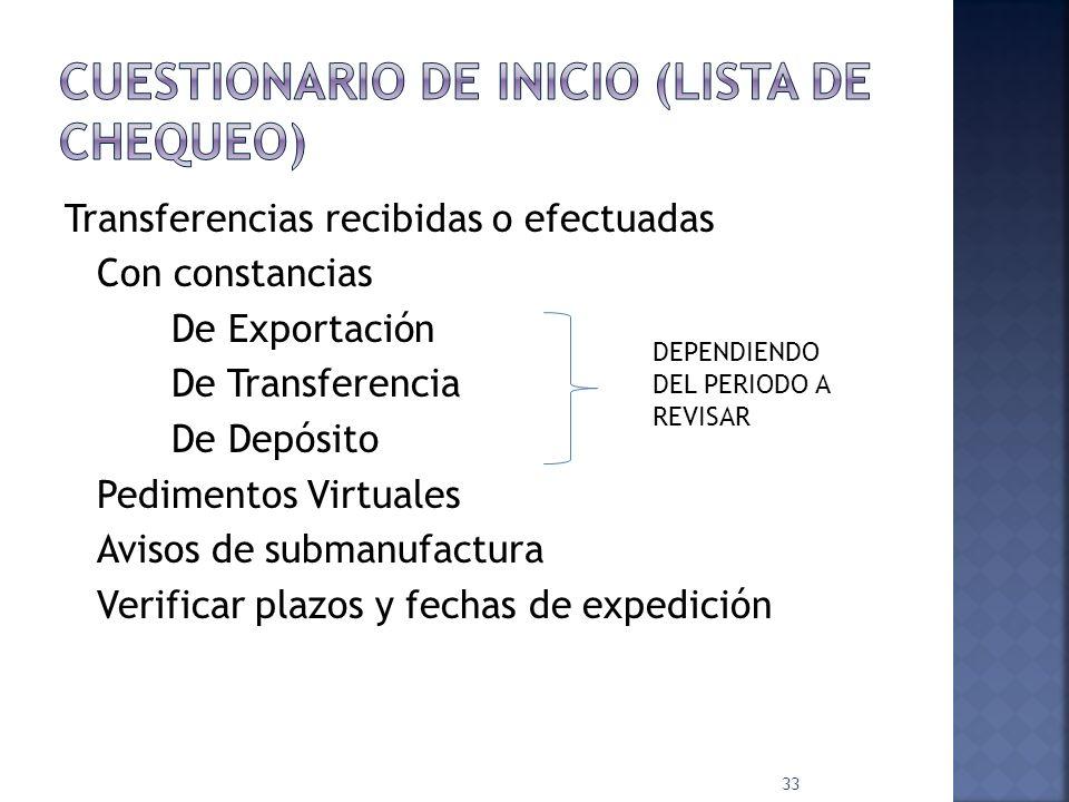 Importaciones temporales (IV) Plazos de permanencia.- Otros supuestos: Plazo de 12 meses No autorizadas para importación temporal 32