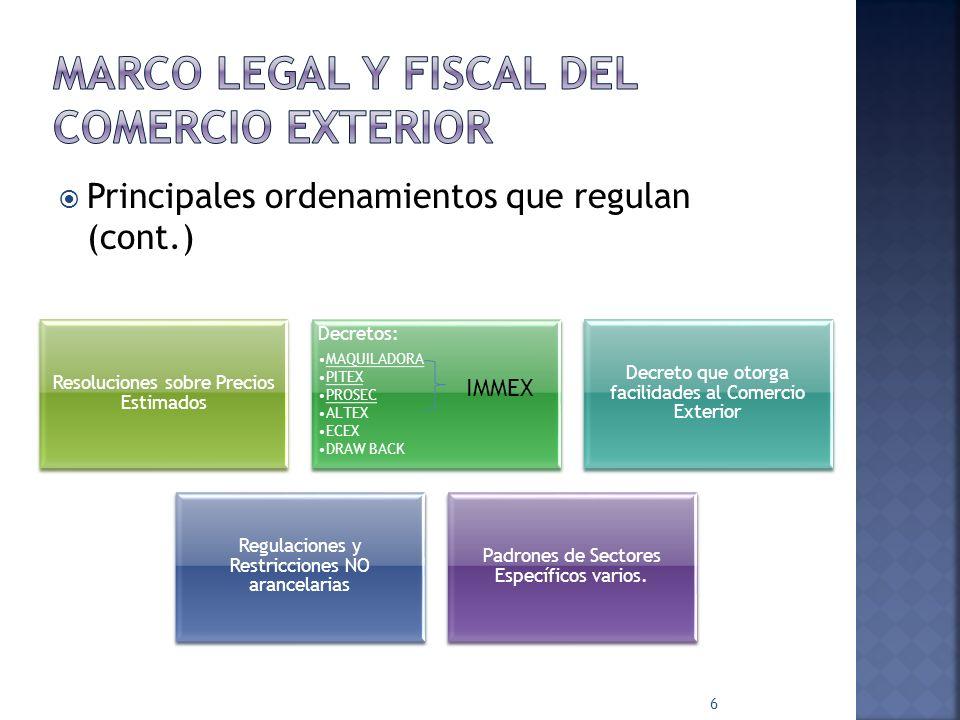 Principales ordenamientos que regulan (cont.) 5