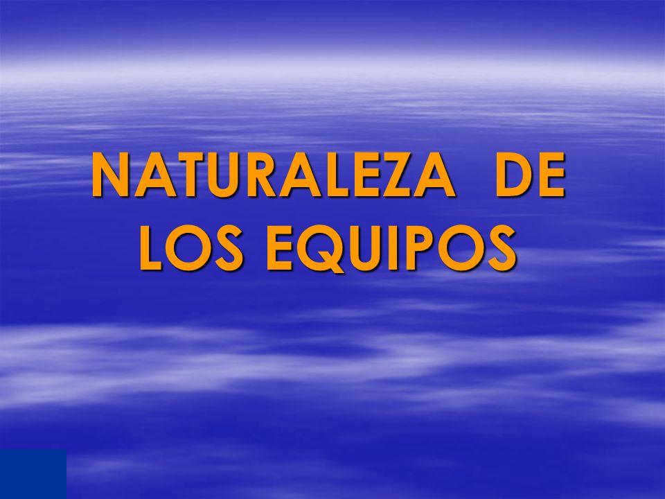 NATURALEZA DE LOS EQUIPOS