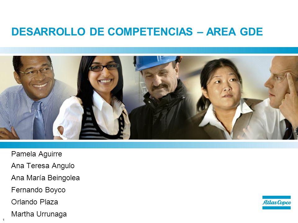 1 DESARROLLO DE COMPETENCIAS – AREA GDE Pamela Aguirre Ana Teresa Angulo Ana María Beingolea Fernando Boyco Orlando Plaza Martha Urrunaga