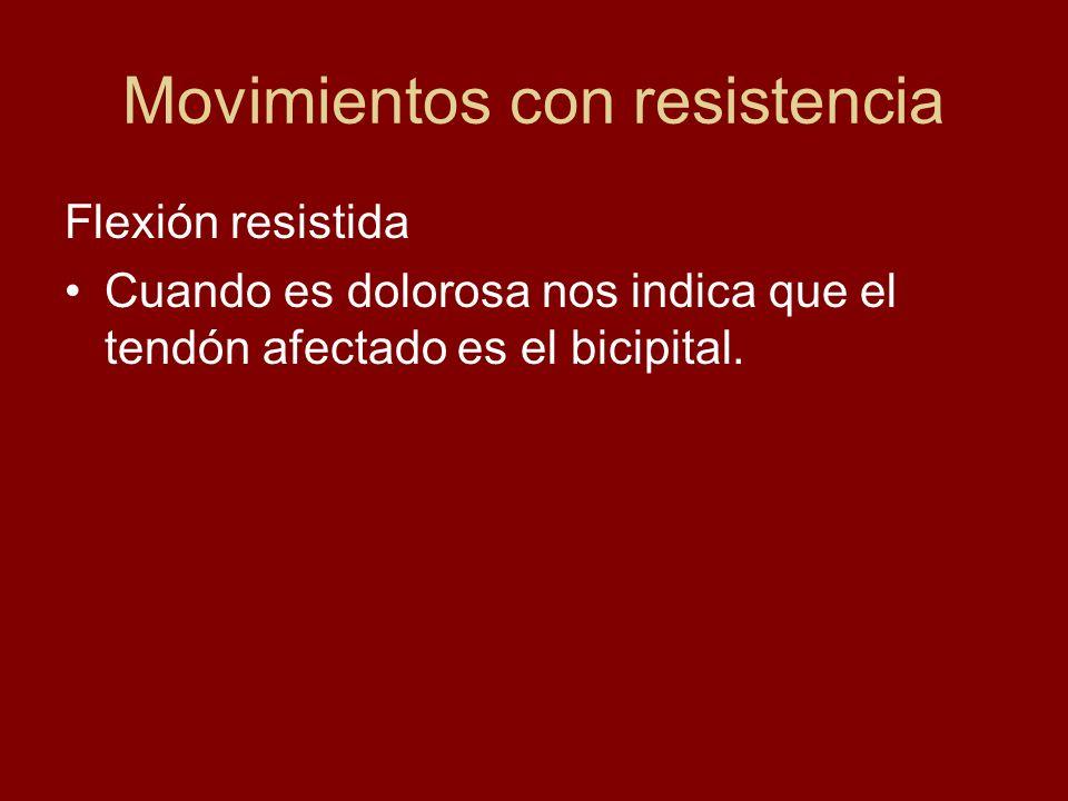 Movimientos con resistencia Extensión contra resistencia Explora el músculo redondo mayor y deltoides