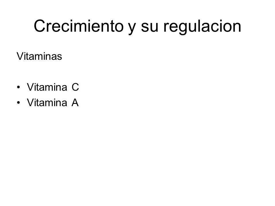 Crecimiento y su regulacion Vitaminas Vitamina C Vitamina A