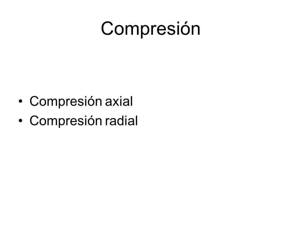 Compresión Compresión axial Compresión radial