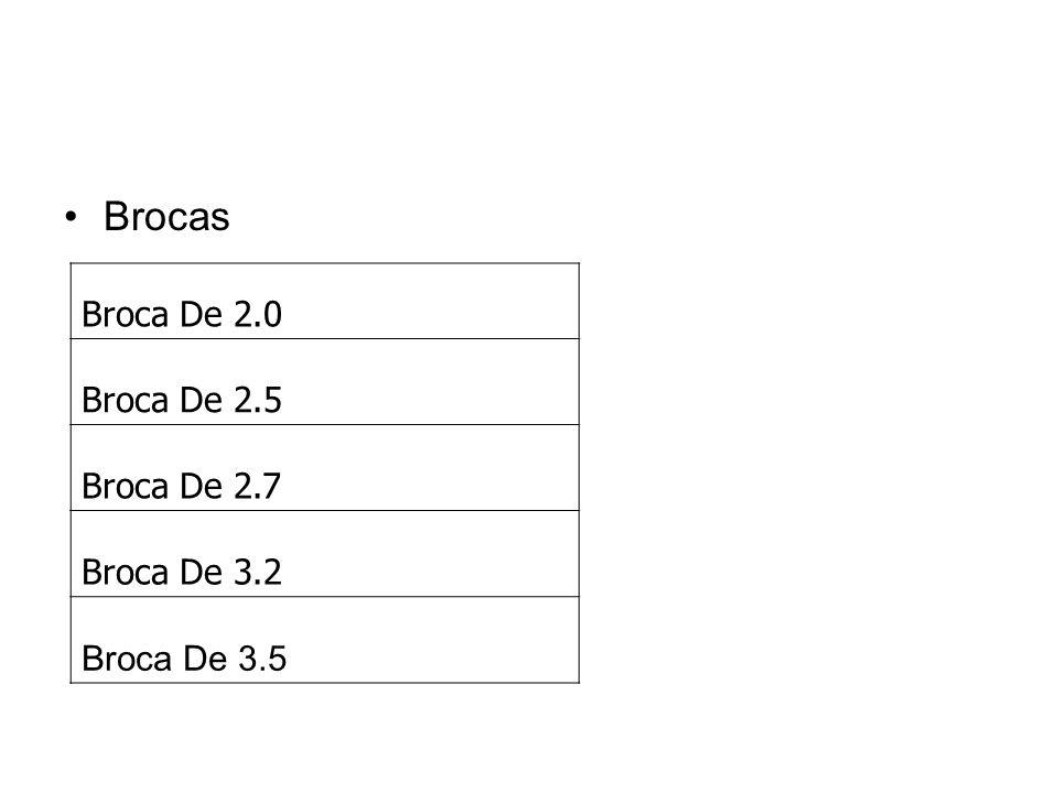 Brocas Broca De 2.0 Broca De 2.5 Broca De 2.7 Broca De 3.2 Broca De 3.5