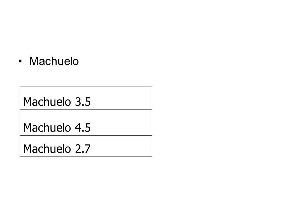 Machuelo Machuelo 3.5 Machuelo 4.5 Machuelo 2.7