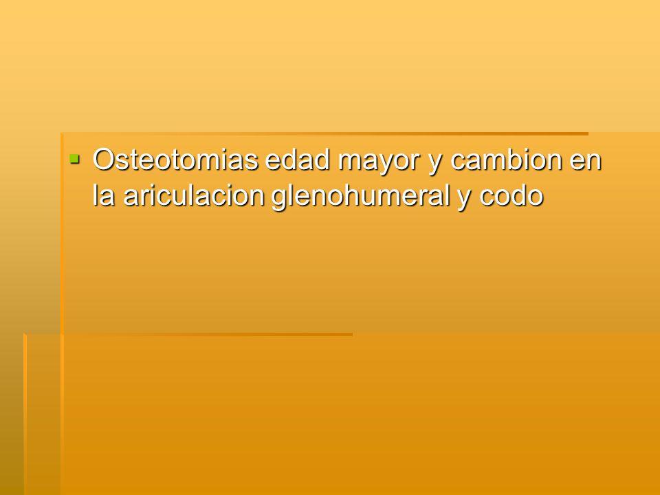 Osteotomias edad mayor y cambion en la ariculacion glenohumeral y codo Osteotomias edad mayor y cambion en la ariculacion glenohumeral y codo