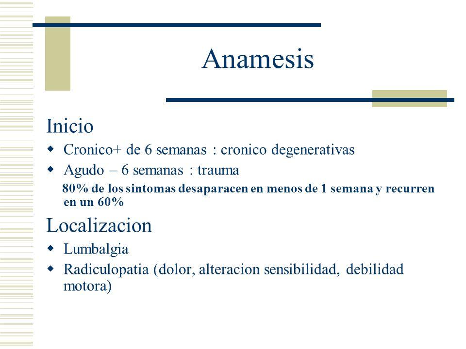 Anamesis La deteccion del generador del dolor depende de estos tres criterios 1)Tiene un abastecimiento nervioso.