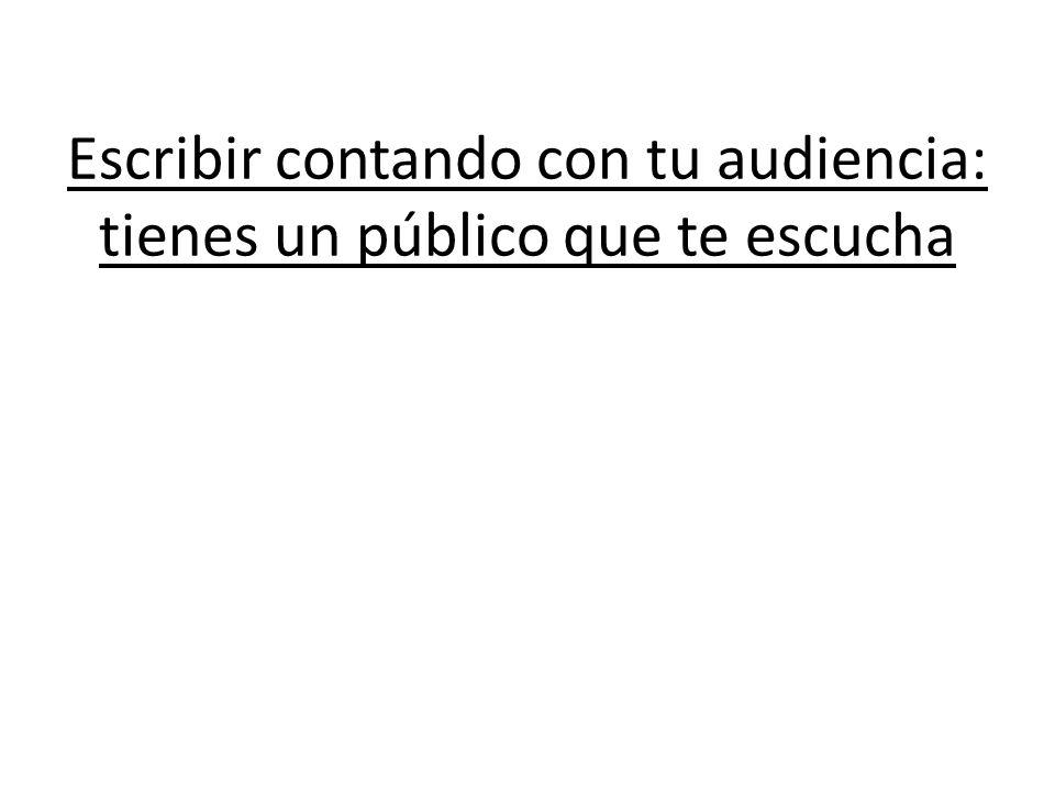 Escribir contando con tu audiencia: tienes un público que te escucha