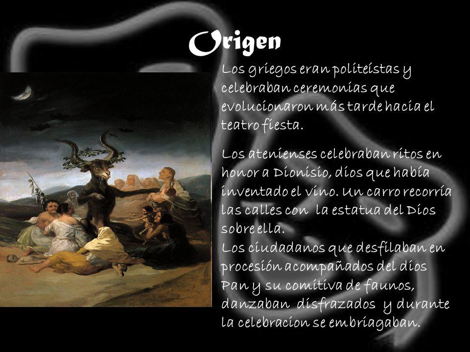 Origen Se sacrificaba un carnero en un altar.
