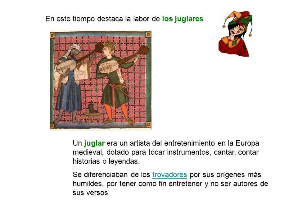 Un juglar era un artista del entretenimiento en la Europa medieval, dotado para tocar instrumentos, cantar, contar historias o leyendas. Se diferencia