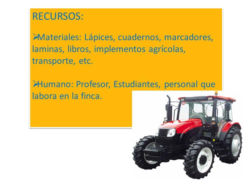 Apreciación acerca de la forma como se emplea cada una de las diferentes piezas agrícolas. Relatos sobre accidentes que se hayan producido en esa o en