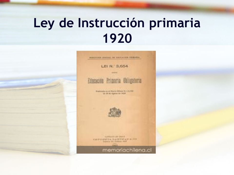 Ley de Instrucción primaria 1920