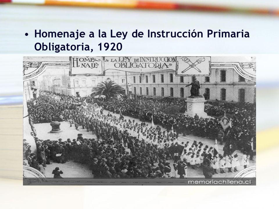 Homenaje a la Ley de Instrucción Primaria Obligatoria, 1920
