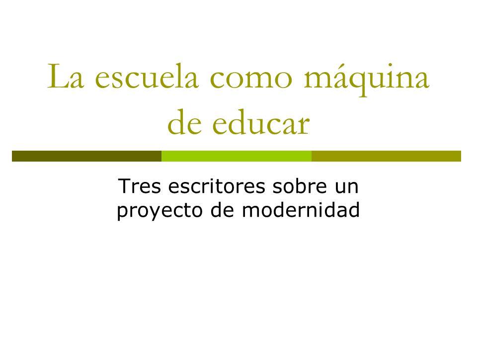 Escuela moderna Máquina de educar