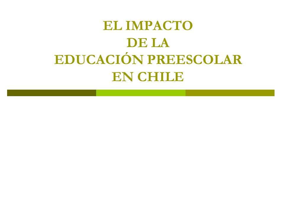 EL IMPACTO DE LA EDUCACIÓN PREESCOLAR EN CHILE