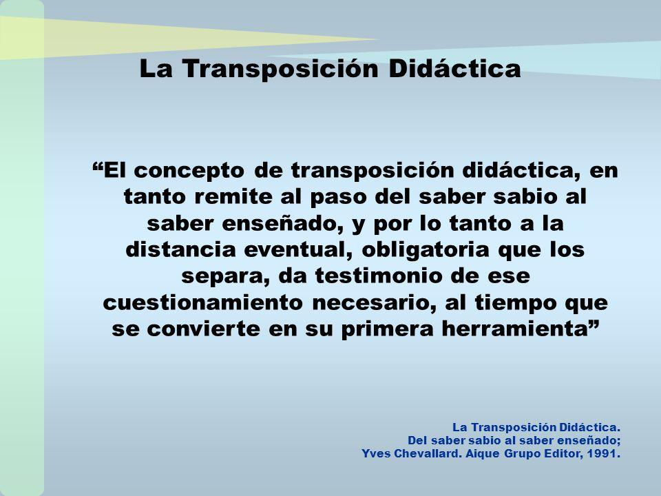 Objeto de Saber Objeto a enseñar Objeto de enseñanza Proceso de Transformació n