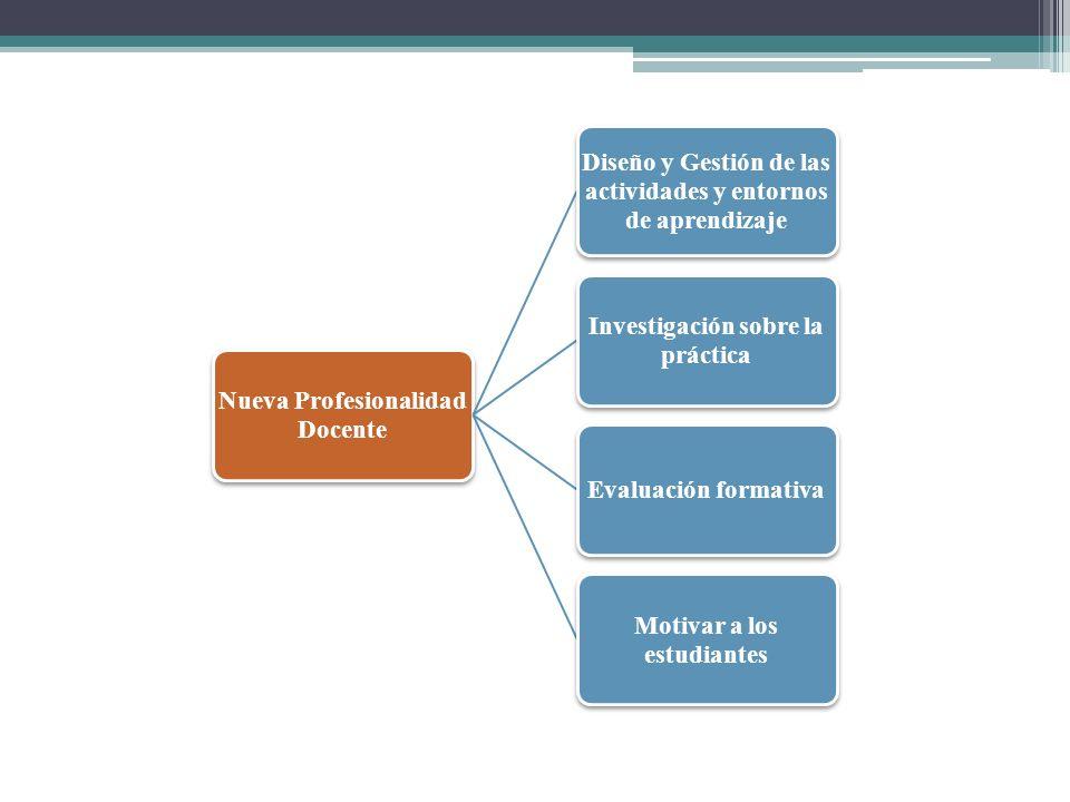Nueva Profesionalidad Docente Diseño y Gestión de las actividades y entornos de aprendizaje Investigación sobre la práctica Evaluación formativa Motiv