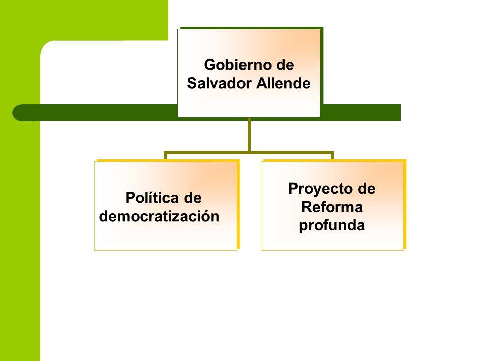 Gobierno de Salvador Allende Política de democratización Proyecto de Reforma profunda