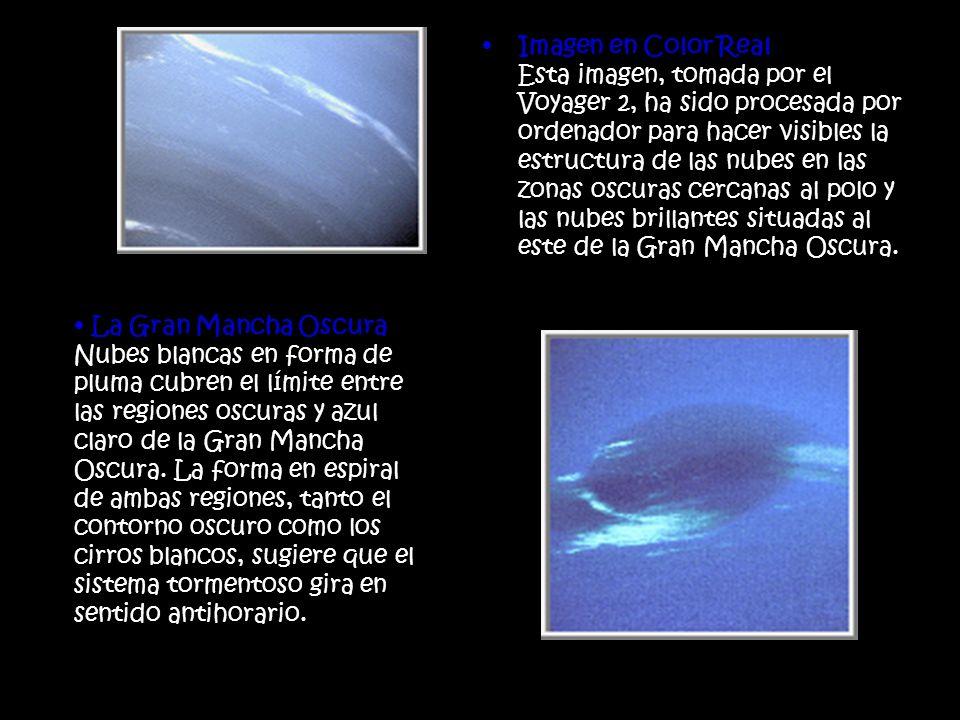 Imagen en Color Real Esta imagen, tomada por el Voyager 2, ha sido procesada por ordenador para hacer visibles la estructura de las nubes en las zonas