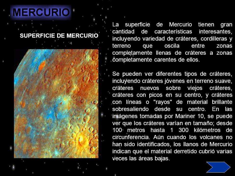 La Cuenca Caloris es la característica más grande de la superficie de Mercurio.