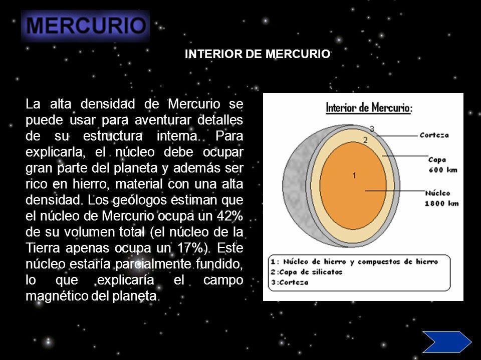 Mercurio posee una atmósfera, muy tenue, constituida principalmente por potasio y sodio, con trazas de otros elementos.