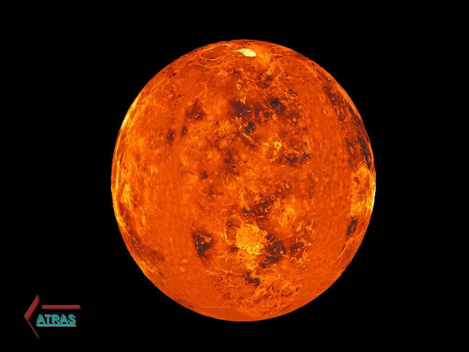 La atmósfera de Venus es muy caliente y densa.