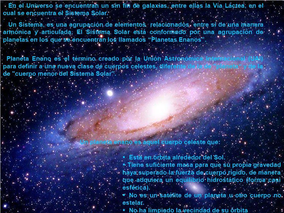 En el Universo se encuentran un sin fin de galaxias, entre ellas la Vía Láctea, en el cual se encuentra el Sistema Solar. Un Sistema, es una agrupació