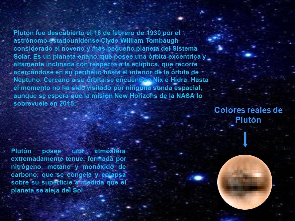 Plutón fue descubierto el 18 de febrero de 1930 por el astrónomo estadounidense Clyde William Tombaugh considerado el noveno y más pequeño planeta del
