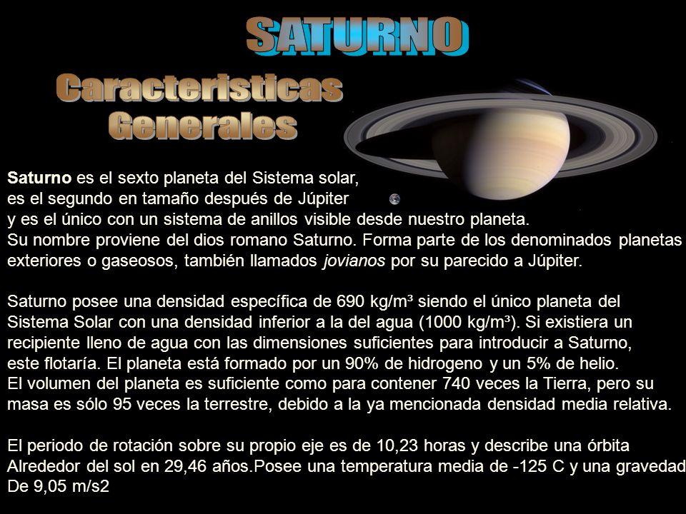 La atmósfera de Saturno posee un patrón de bandas oscuras y zonas claras similar al de Júpiter aunque la distinción entre ambas es mucho menos clara en el caso de Saturno.