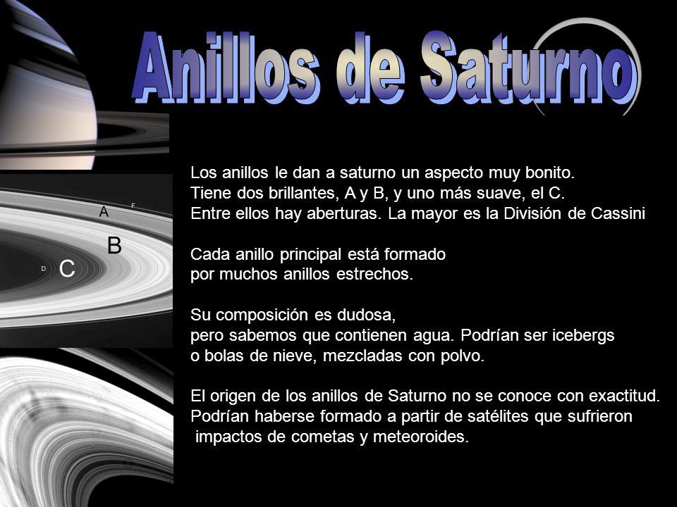 La elaborada estructura de los anillos se debe a la fuerza de gravedad de los satélites cercanos, en combinación con la fuerza centrífuga que genera la propia rotación de Saturno.