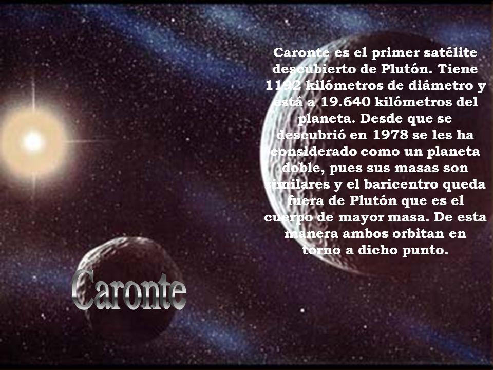 Caronte es el primer satélite descubierto de Plutón.