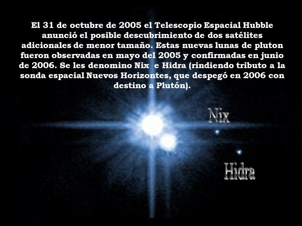 El 31 de octubre de 2005 el Telescopio Espacial Hubble anunció el posible descubrimiento de dos satélites adicionales de menor tamaño.