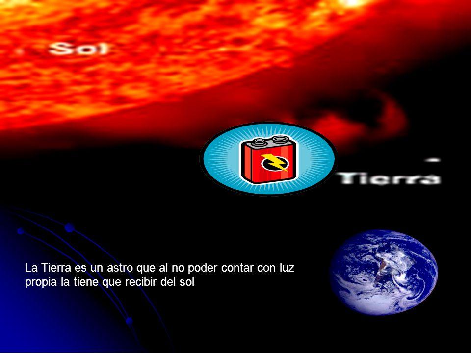 La Tierra es un astro que al no poder contar con luz propia la tiene que recibir del sol