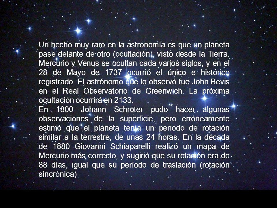 Un hecho muy raro en la astronomía es que un planeta pase delante de otro (ocultación), visto desde la Tierra.