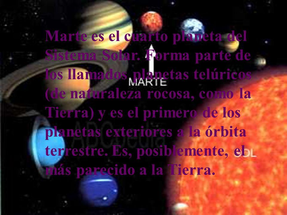 Planetas del sistema solar a escala y ordenados con respecto a su distancia con el sol. Mercurio Venus Tierra MarteCuarto Planeta del Sistema Solar Jú