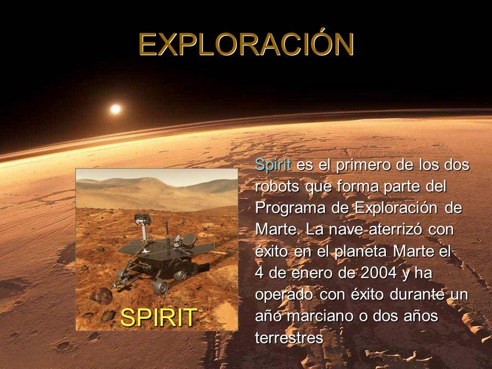 Spirit es el primero de los dos robots que forma parte del Programa de Exploración de Marte.