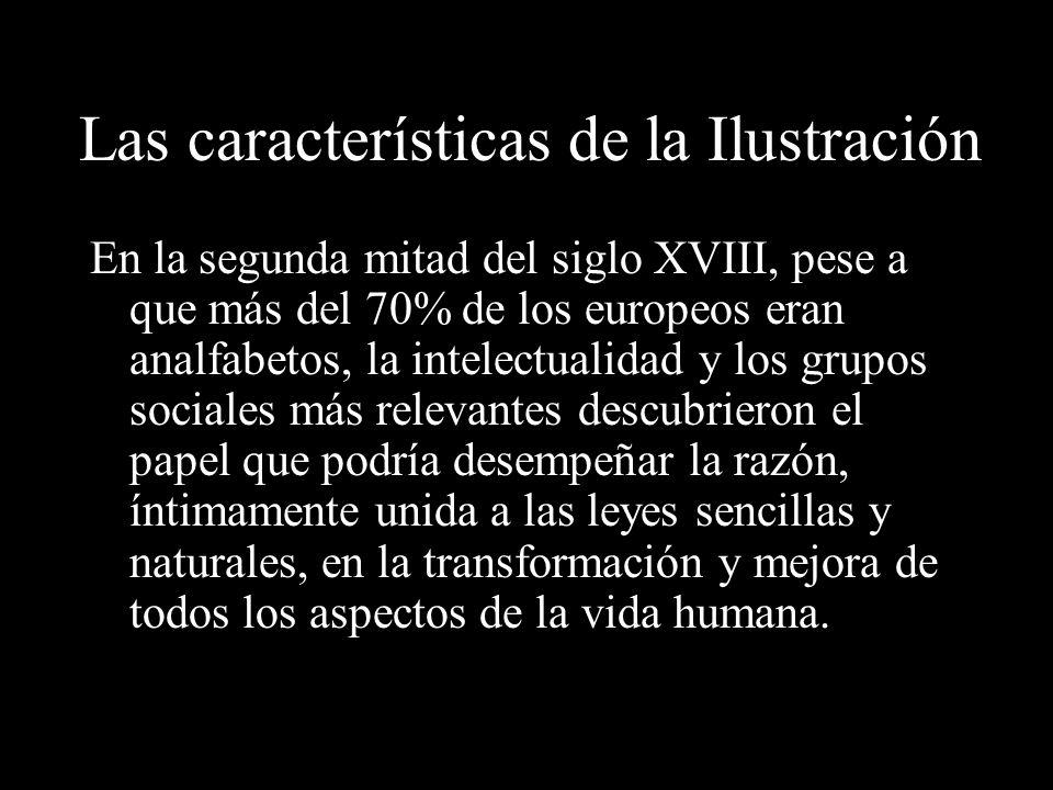 Los pensadores de la Ilustración sostenían que la razón humana podía combatir la ignorancia, la superstición y la tiranía, y construir un mundo mejor.