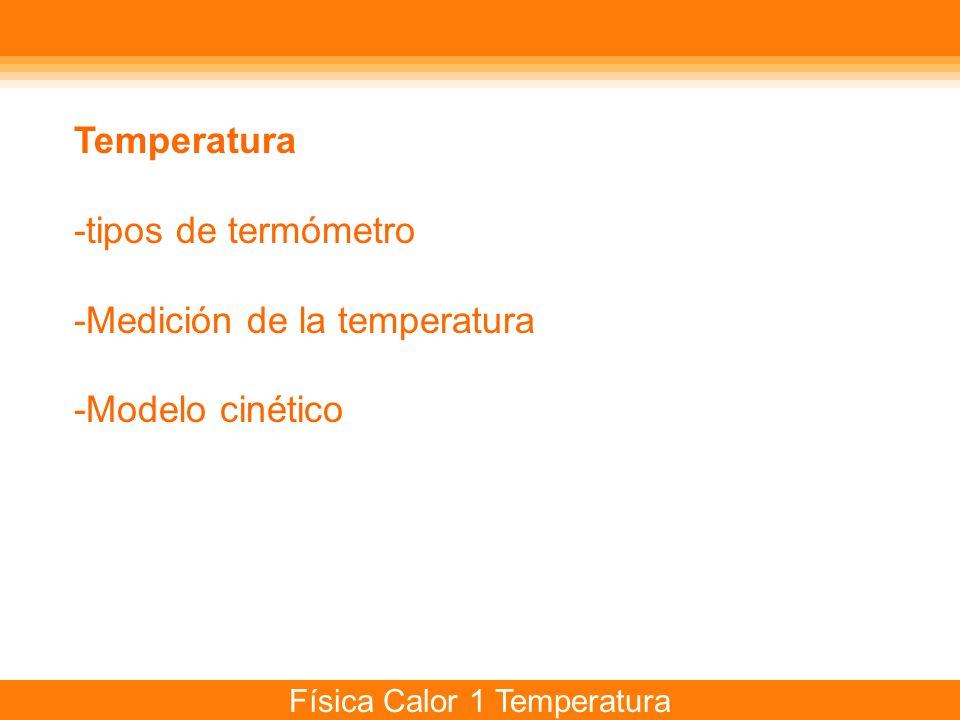 Física Calor 1 Temperatura Temperatura ¿Cómo se define.