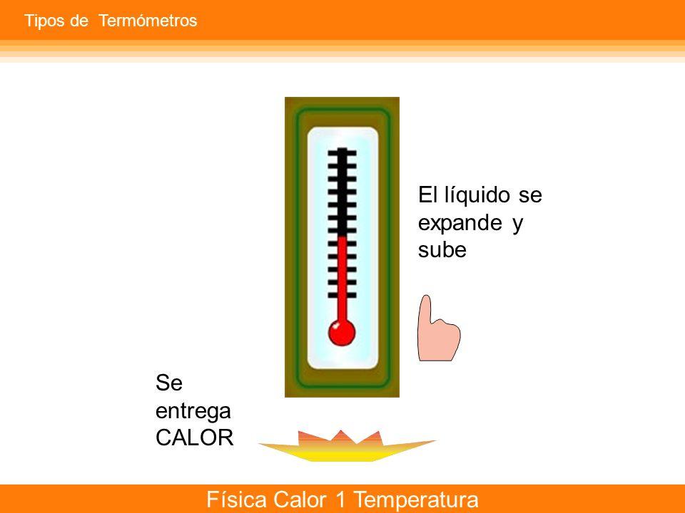 Física Calor 1 Temperatura ¿Cómo y por qué se expanden los gases? Tipos de Termómetros