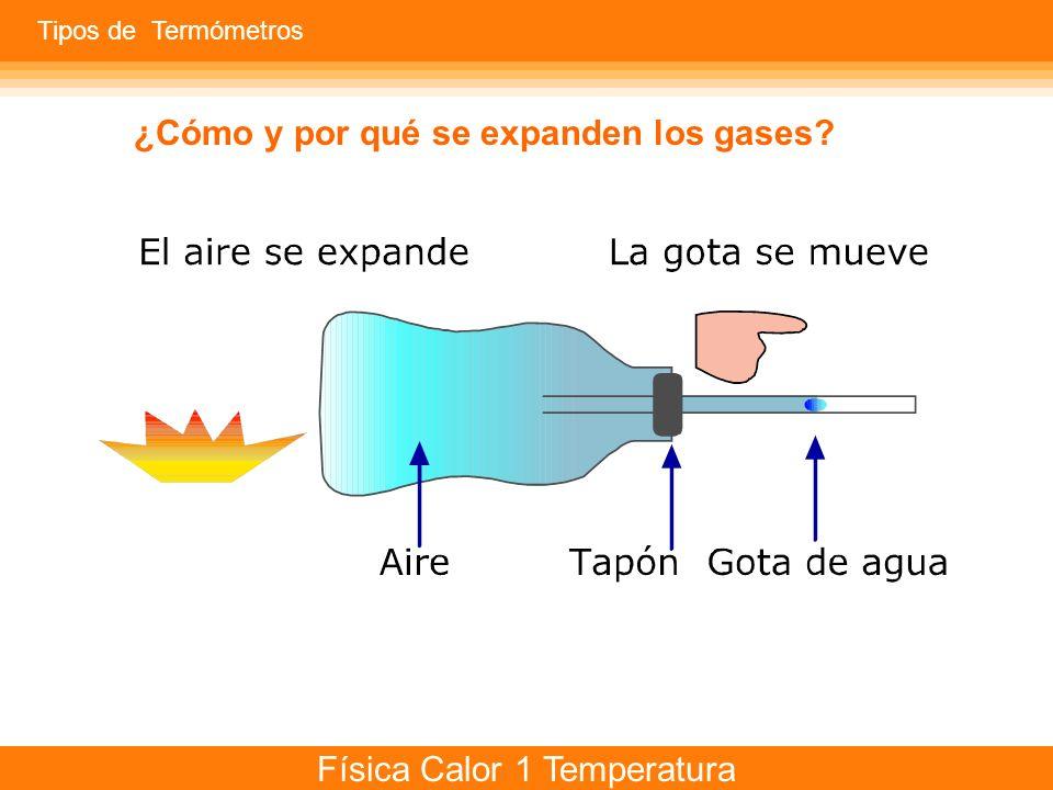 Física Calor 1 Temperatura Si aplicamos una diferencia de temperatura a un material sólido, líquido o gaseoso...