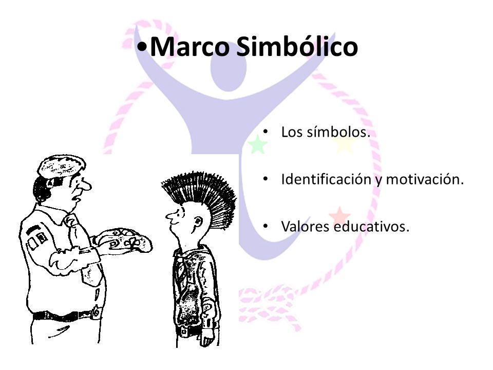 Marco Simbólico Los símbolos. Identificación y motivación. Valores educativos.
