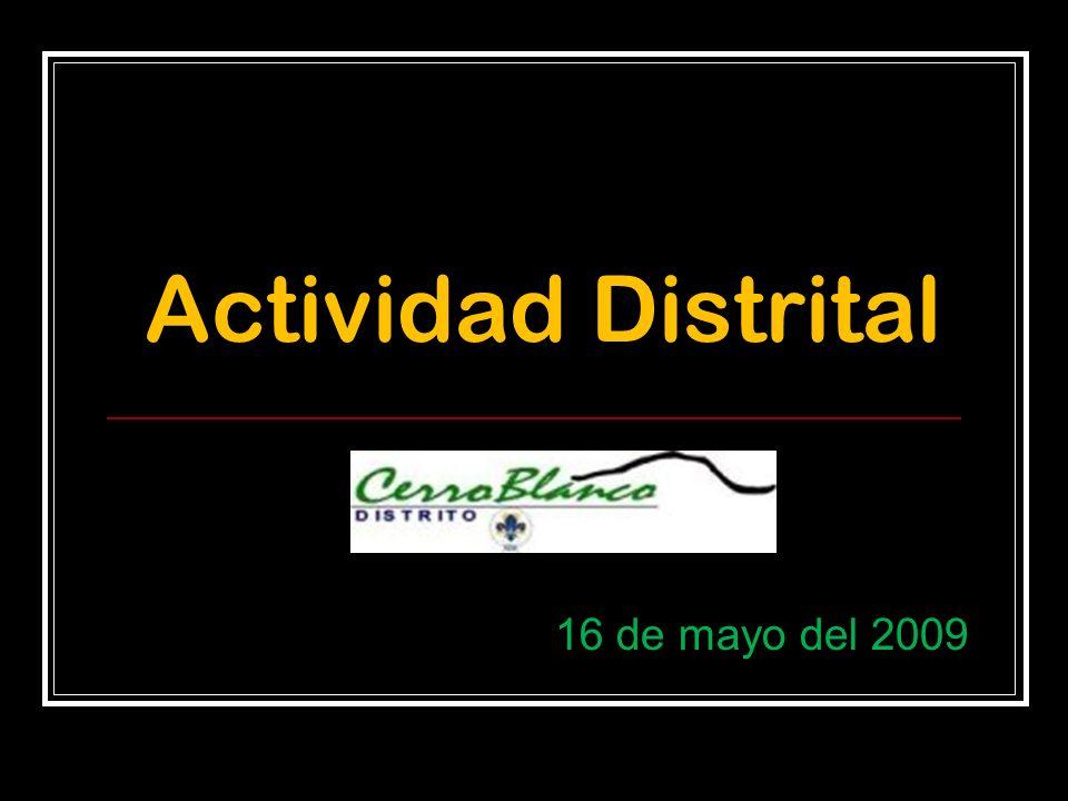 Actividad Distrital 16 de mayo del 2009