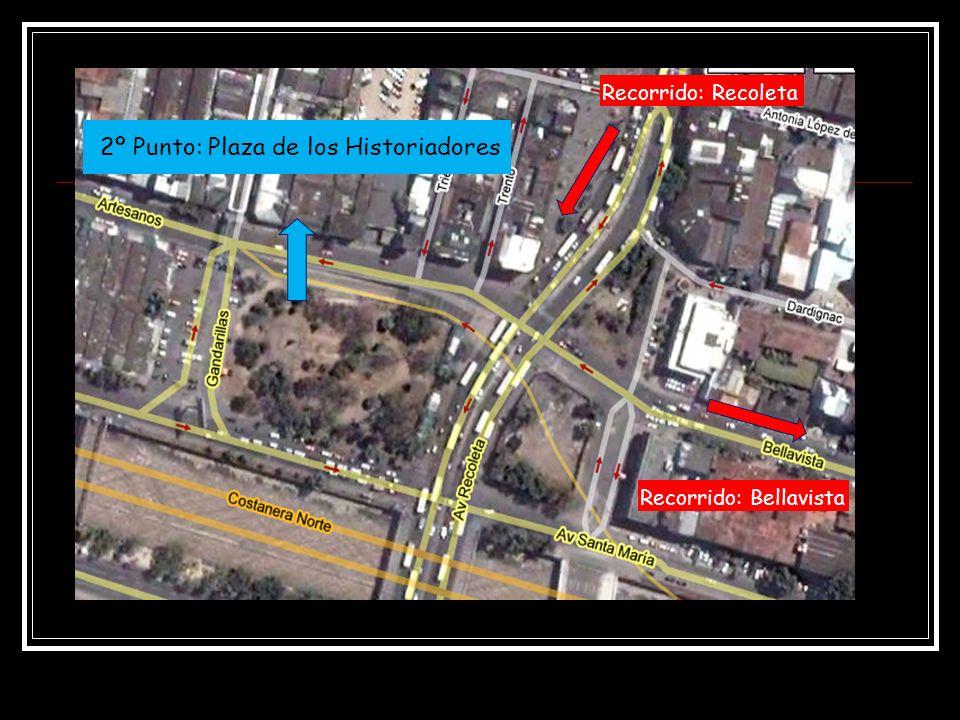 2º Punto: Plaza de los Historiadores Recorrido: Recoleta Recorrido: Bellavista