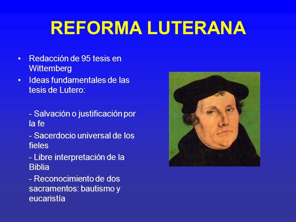 DIFUSIÓN DE LA REFORMA LUTERANA El emperador de la época era Carlos V, era un gran defensor del catolicismo y pretendió detener el progreso de las ideas luteranas.