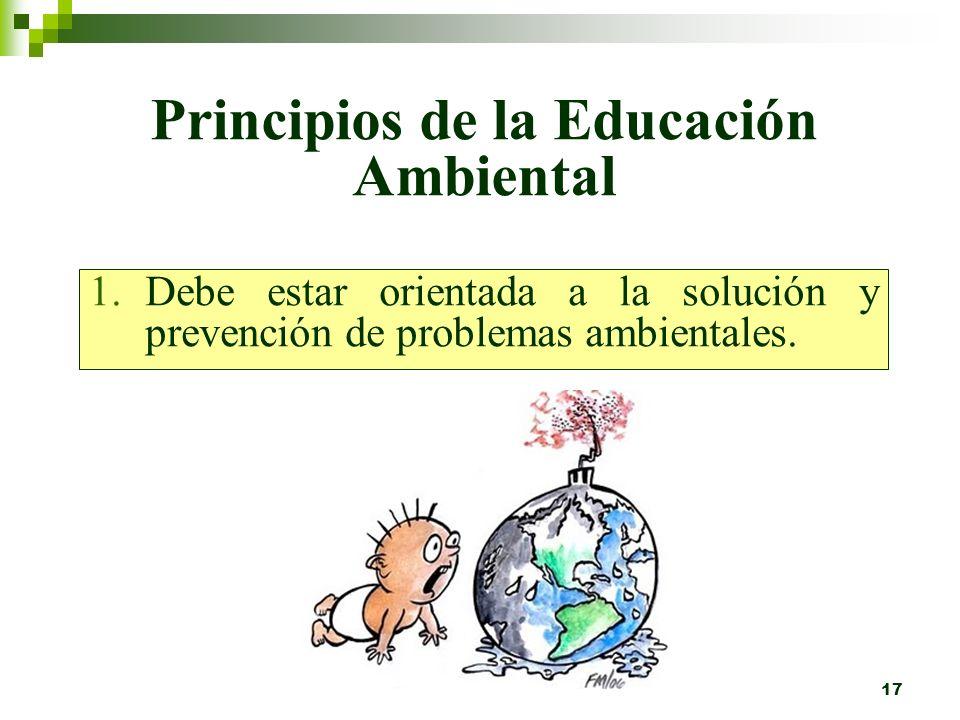 16 Capacidad de acción: enfatiza el dotar al alumno con las habilidades necesarias para participar productivamente en la solución de problemas ambient